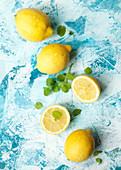 Fresh lemons and mint
