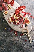 Chia smoothie, with fresh figs and coconut milk