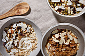 Coconut and almond granola
