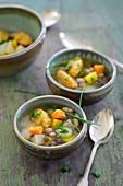Vegan legumes and vegetable stew