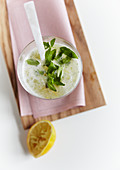 Bergamot spritzer with lemon verbena