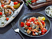 Greek Style Broiled Shrimp