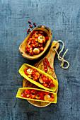 Mexican shrimp tacos with homemade salsa