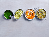 Sauces - Chimichurri, Anchovy, Garlic and Lemon Butter, Romesco Swirl and Nam Jim