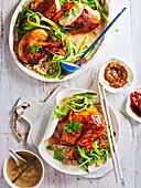 Honey-Roasted Hainanese Chicken Rice Banquet