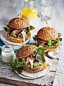 Zucchini Burger with Yoghurt Sauce