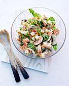 Romana-Pilz-Salat mit Champignons, Apfel, Möhren und Emmentaler
