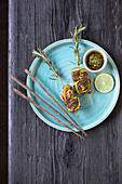 Bavaria meets Asia - Moroccan rosemary and turkey kebabs