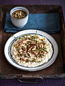 Risotto with pecan nut pesto