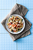 Penne with monk fish and tomatoes