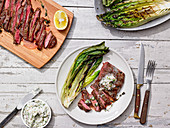 Grilled Skirt Steak With Shallot-Thyme Butter