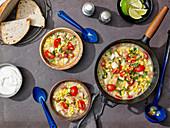 Corn, Tomato and Basil Chowder