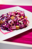 Vegan red cabbage stains