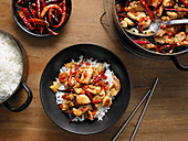 Sichuan Chicken with Whole Dried Red Chiles