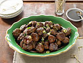 Scallion Turkey Meatballs With Soy-Ginger Glaze