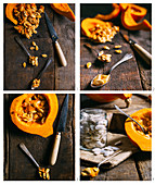 Preparing pumpkin