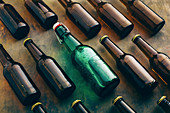 Group of beer bottles