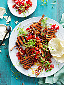 Tandoori Lamb Cutlets with Tomato and Coriander Salsa