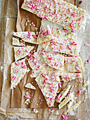 White-Choc Mint Candy Cane Bark