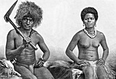 Kanaks from New Caledonia, 19th century