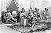 Royal tonsure ceremony in Siam, 19th century