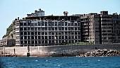Ruined buildings on Hashima Island, Japan
