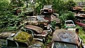 Car graveyard, Graz, Austria