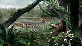 Laramidia prehistoric island