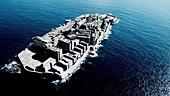 Ruins on Hashima Island, Japan