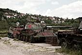 Tank graveyard, Croatia