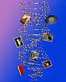 DNA storage, conceptual image