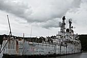 French cruiser Colbert awaiting scrapping, 2015