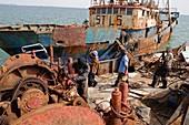 Boat scrapyard, Mauritania