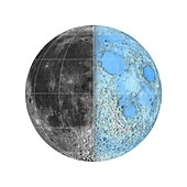 Moon's surface and topography, LRO images