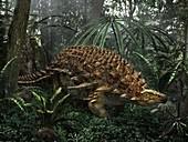 Borealopelta ankylosaur dinosaur, illustration