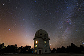 Night sky over Yunnan Astronomical Observatory
