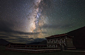 Milky Way and Tibetan house
