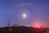 Lunar halo, Chongqing, China