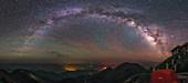 Milky Way over Mount Bada, China
