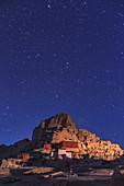 Tibetan ruins in morning twilight