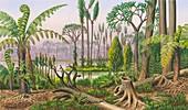 Carboniferous flora, illustration