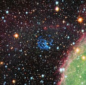 Supernova remnant in Small Magellanic Cloud, HST image