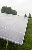 Solar panels at a solar park
