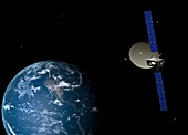 Alphasat communications satellite, artwork
