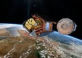 Sentinel-5P satellite deployment, artwork