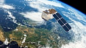 Sentinel-2 satellite in orbit, artwork