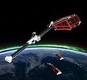 Swarm satellites, artwork