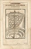 Revolving wooden quadrant, illustration
