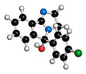 Mazindol appetite suppressant drug molecule