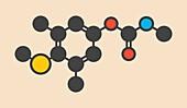 Methiocarb pesticide molecule
